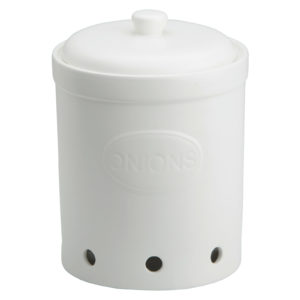 Onion Storage Jar Matte White