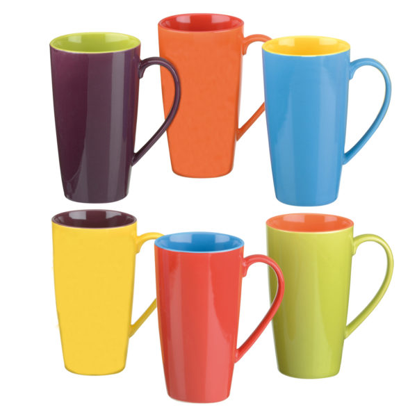 Set of 6 Harlequin Latte Mugs