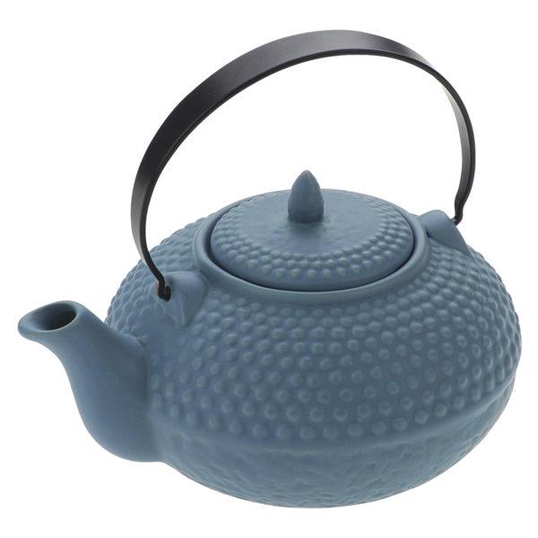 Oriental Hobnail Teapot Mizu Blue