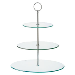 Glass Three Tiered Cake Stand