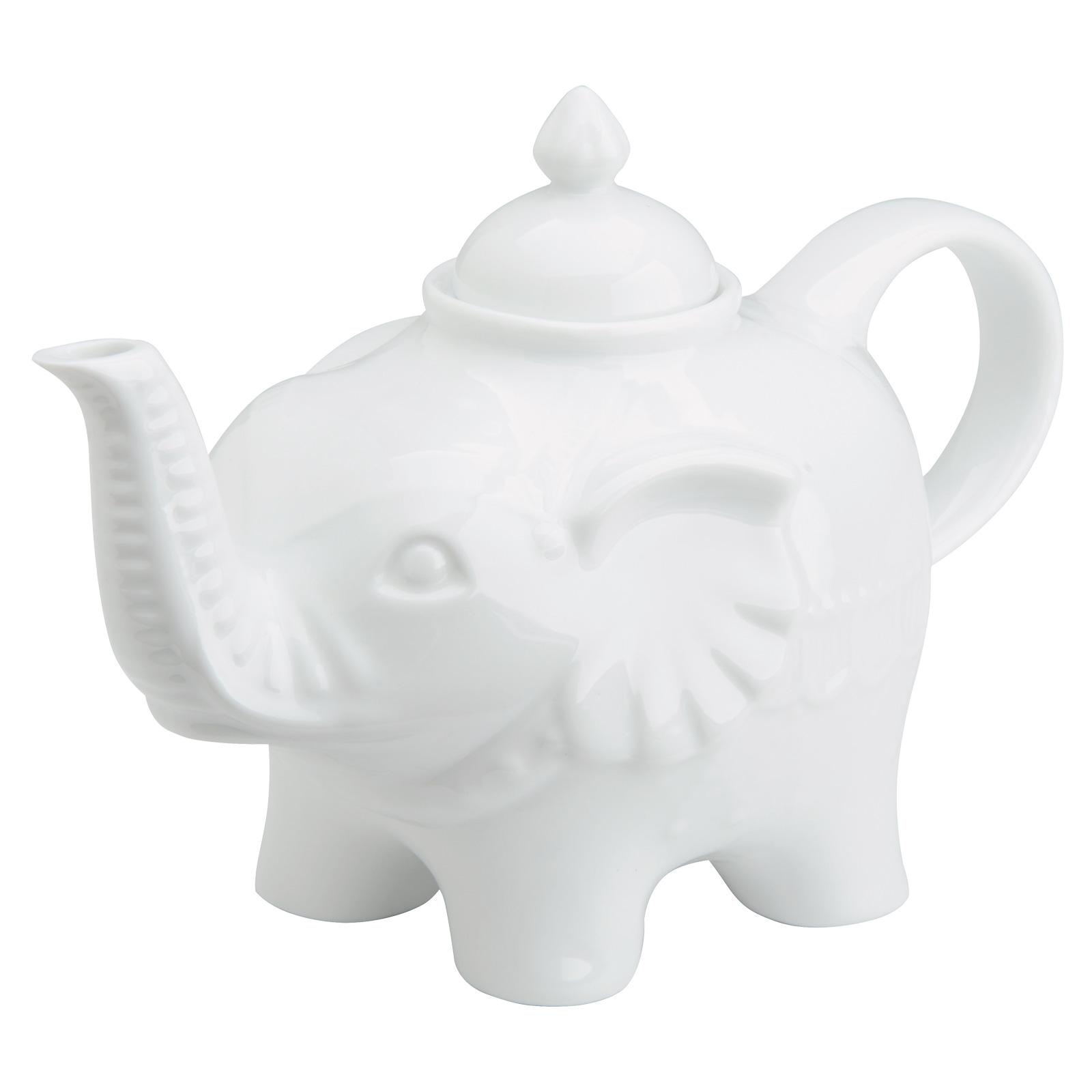 Elephant Teapot White