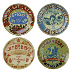 Set of 4 Classic Camembert Canapé Plates