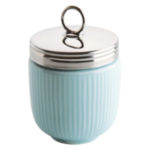 Fluted Egg Coddler Celadon Blue