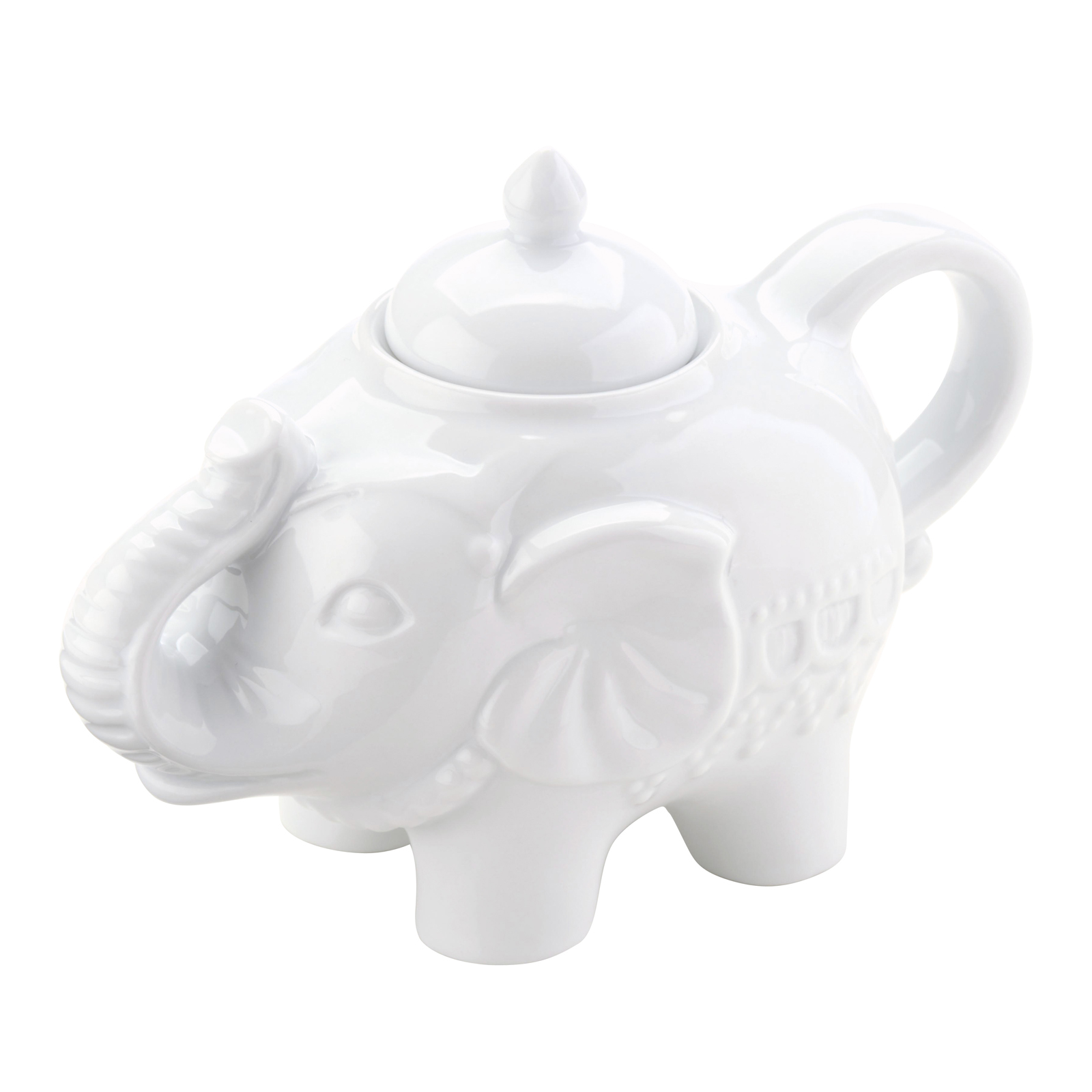 Elephant Sugar Pot White