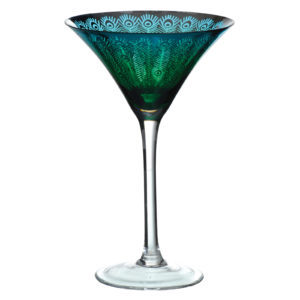 Set of 2 Peacock Martinis