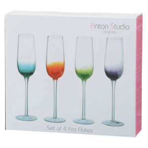 Set of 4 Fizz Champagne Flutes