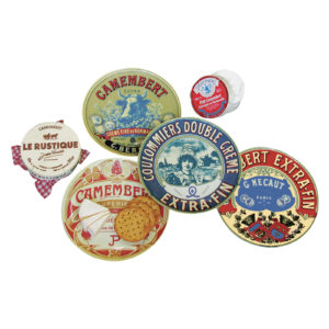 Set of 4 Classic Camembert CanapŽ Plates