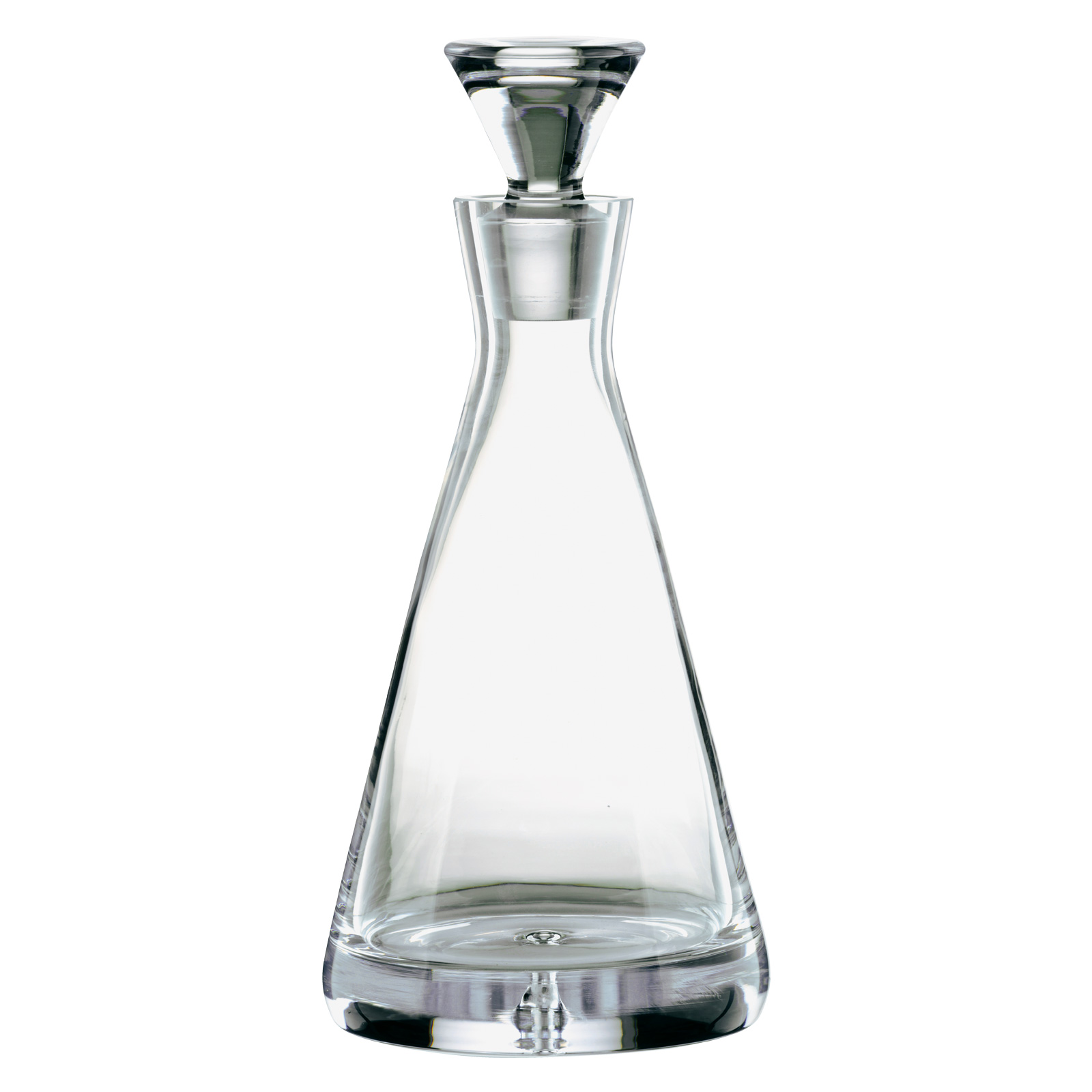 Bubble Base Pyramid Decanter