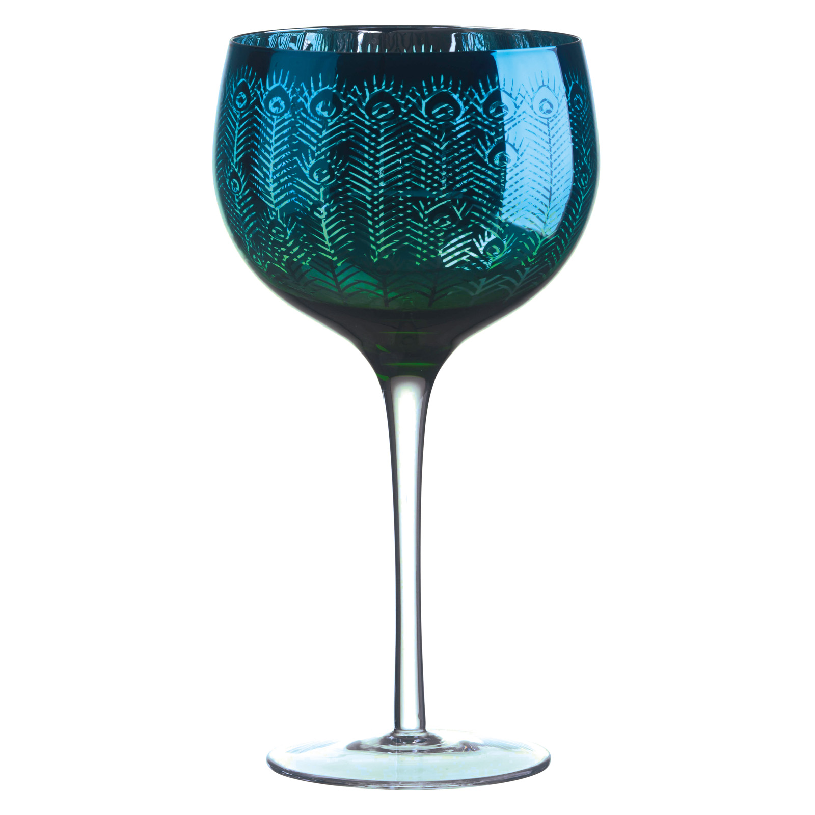 Set of 2 Peacock Gin Glasses