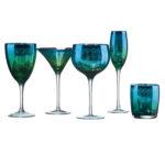 Set of 2 Peacock Wine Glasses