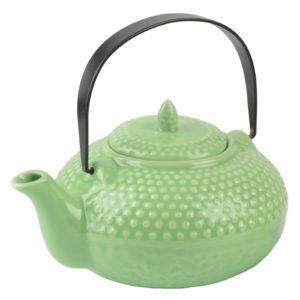 Oriental Hobnail Teapot Jade