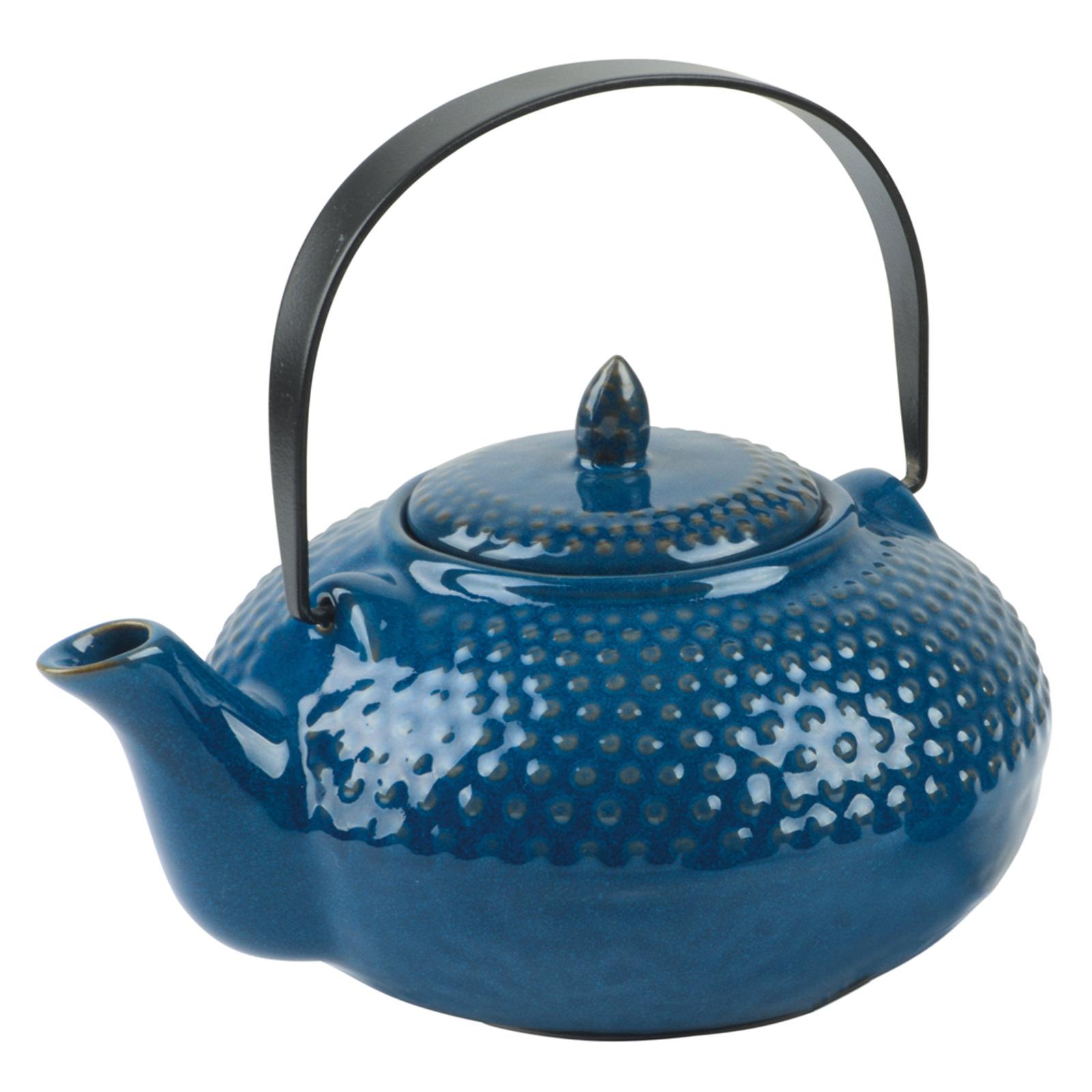Oriental Hobnail Teapot Azure