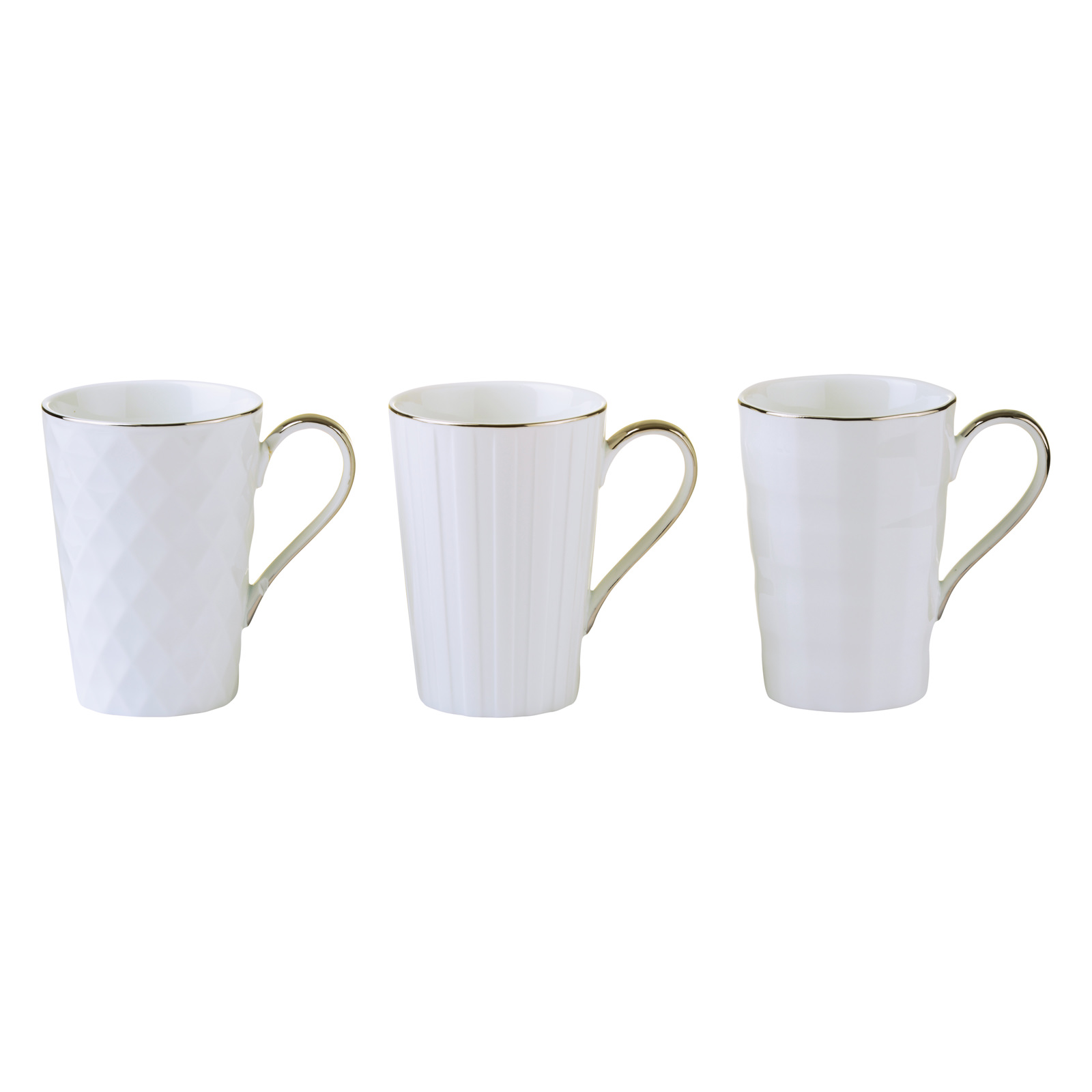 Set of 3 Lux Mugs Gold