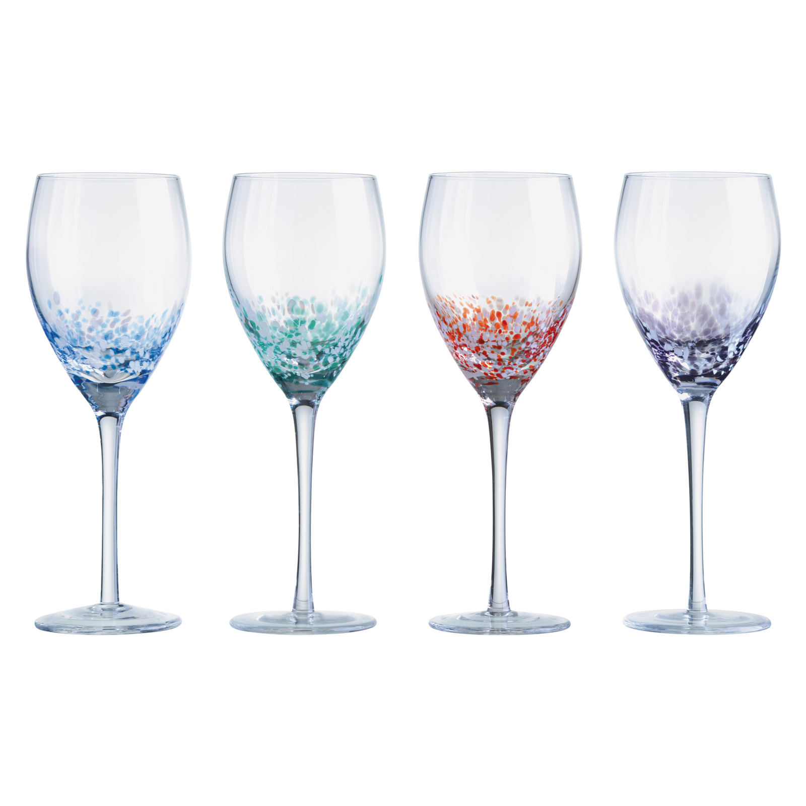 Set of 4 Speckle Wine Glasses