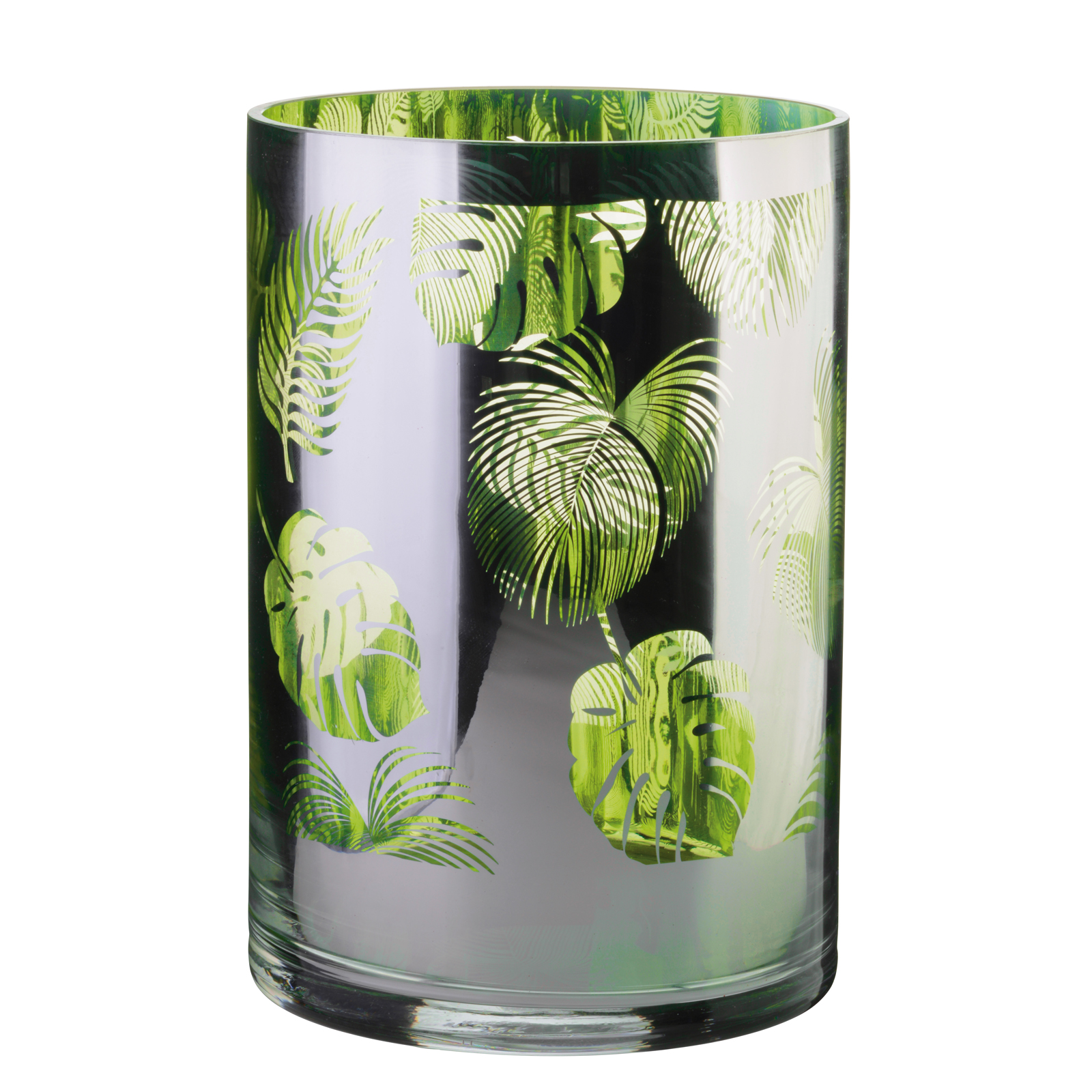 Tropical Leaves Hurricane Lamp Large
