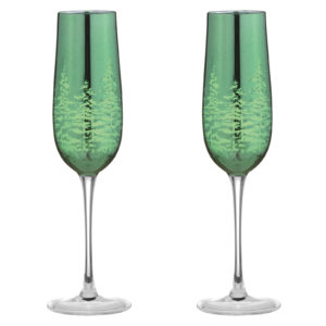 Set of 2 Alpine Champagne Flutes Gold