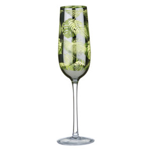 Tropical Leaves Champagne Flute