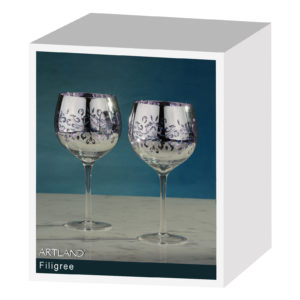 Set of 2 Filigree Gin Glasses Lilac