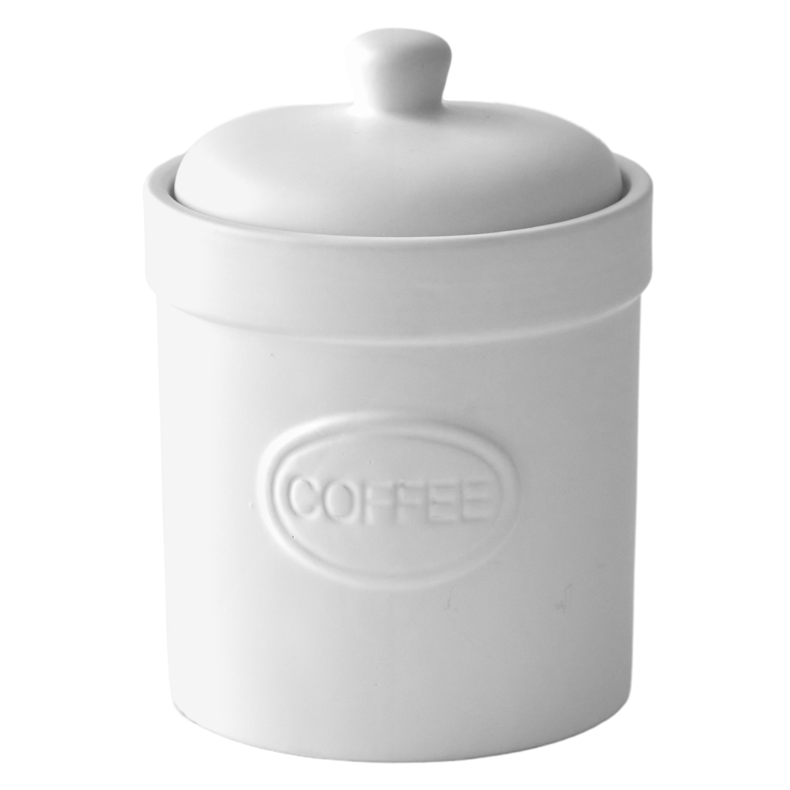 Tea Canister Matte White