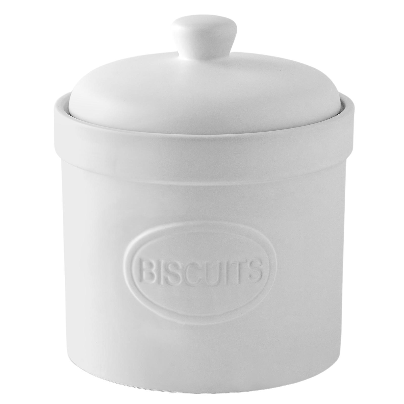 Biscuit Barrel Matte White